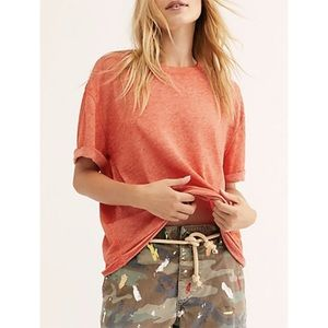 NWT Free People Cassidy Tee in Poppy